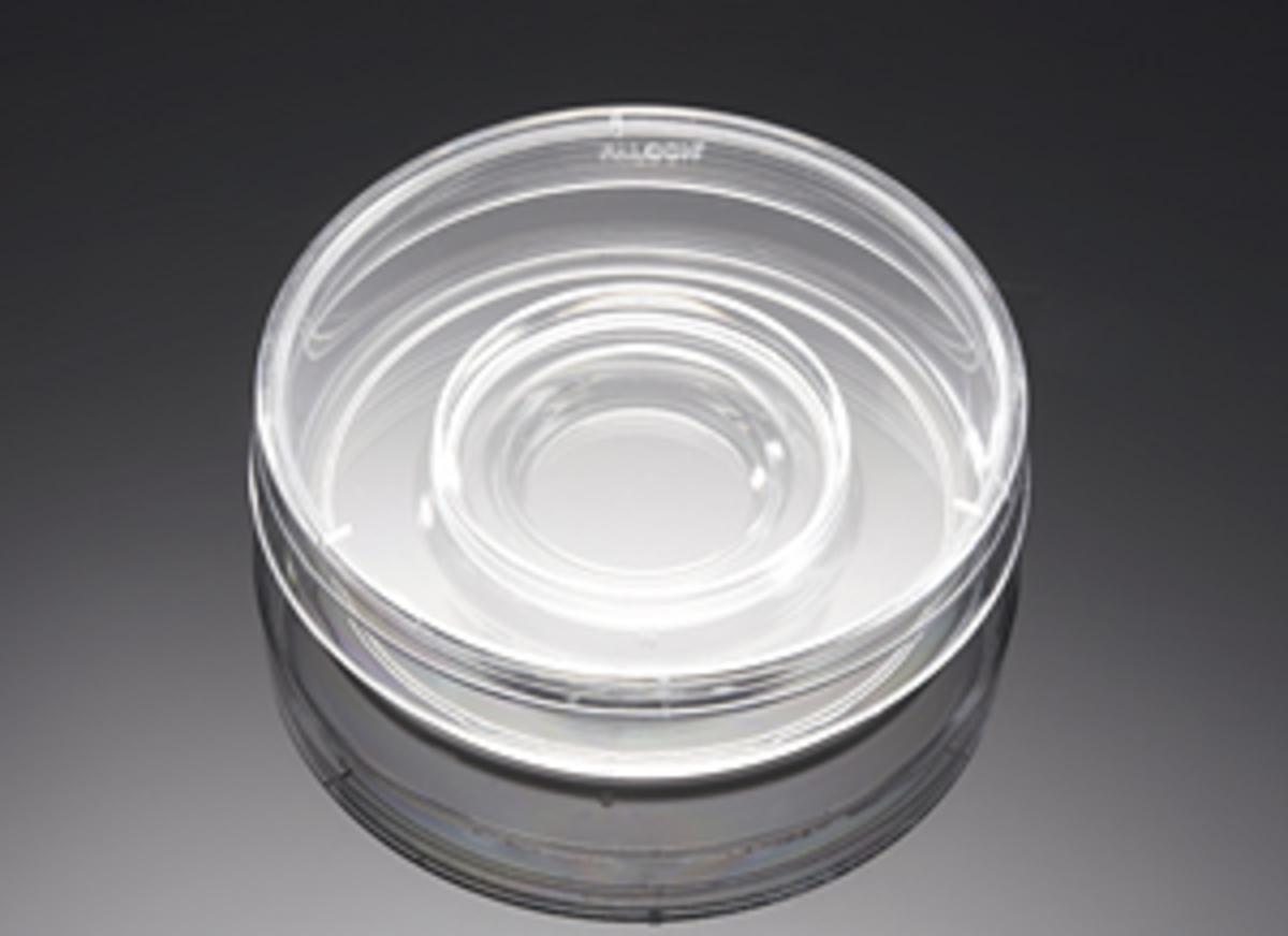 Falcon® 60 mm TC-treated Center Well in vitro Fertilization (IVF)/Organ Culture Dish, 20/Pack, 500/Case, Sterile